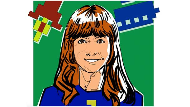 An illustration of Roberta William by @SebastianNavasF